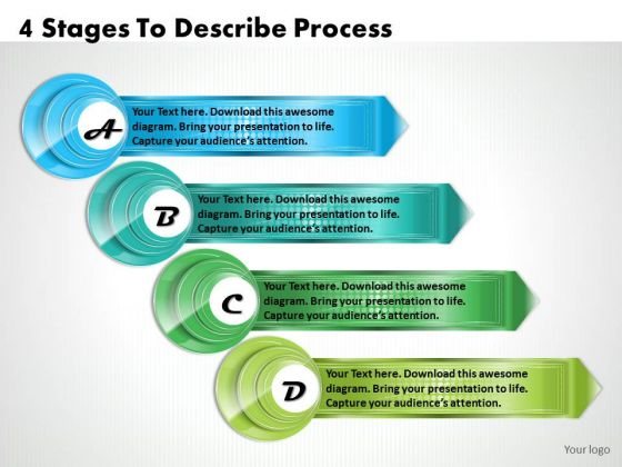 Business Planning Strategy 4 Stages To Describe Process Change Management Ppt Slide