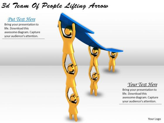 Business Policy And Strategy 3d Team Of People Lifting Arrow Concepts