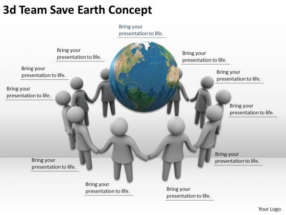 Business Policy And Strategy 3d Team Save Earth Concept Concepts