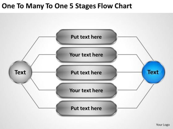 Business Policy And Strategy To Many 5 Stages Flow Chart Concepts
