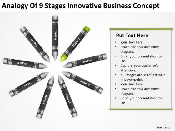 Business Power Point Analogy Of 9 Stages Innovative Concept PowerPoint Templates
