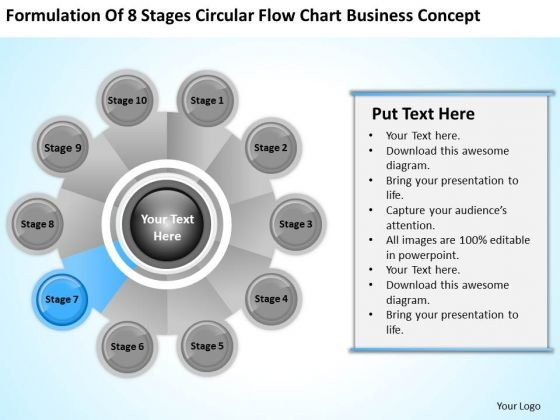 Business PowerPoint Examples Stages Circular Flow Chart Concept Ppt Slides