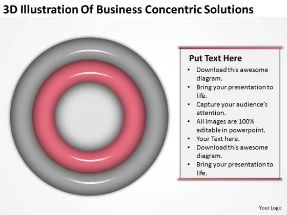 Business PowerPoint Presentation Concentric Solutions Ideas Slides