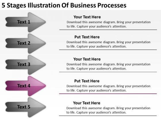 Business PowerPoint Presentation Processes Plan Format Templates
