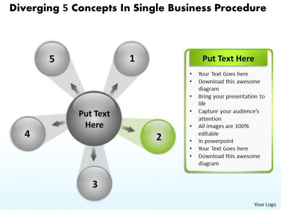 Business PowerPoint Presentations Procedure Circular Process Slides