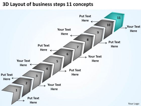 Business PowerPoint Presentations Steps 11 Concepts Ppt Easy Plans Slides