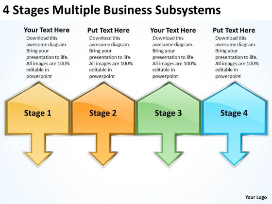 Business PowerPoint Presentations Subsystems Continuity Plans Templates
