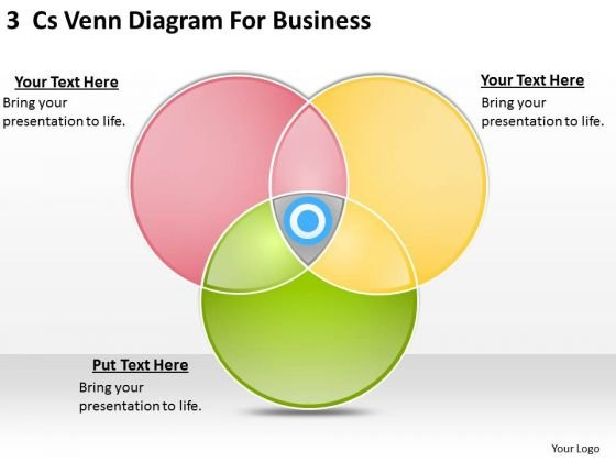 Business PowerPoint Template 3 Cs Venn Diagram For Ppt Slides