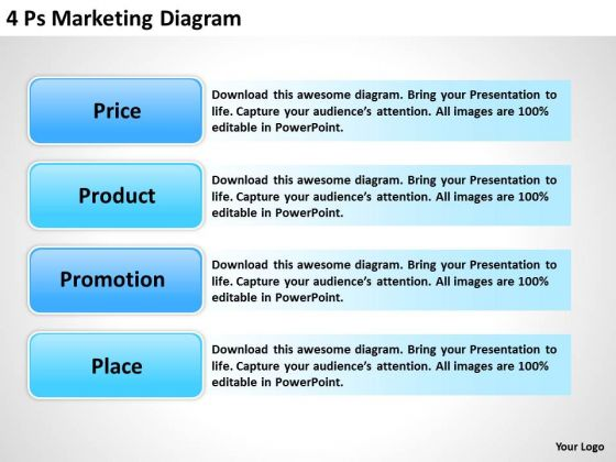 Business PowerPoint Template 4 Ps Marketing Diagram Ppt Templates