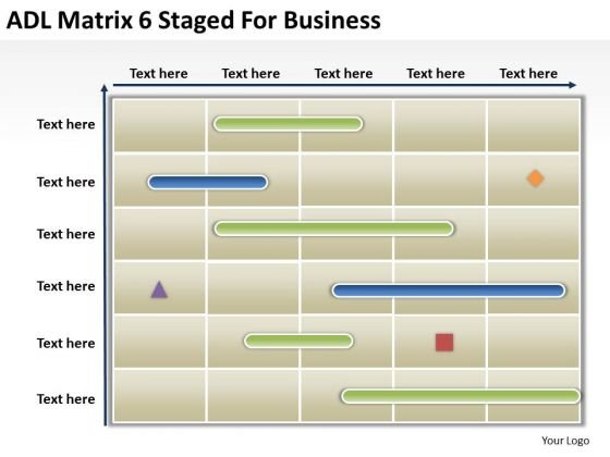 Business PowerPoint Template Adl Matrix 6 Staged For Ppt Templates