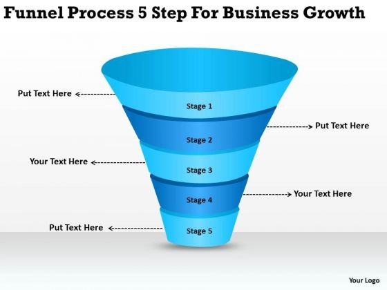 Business PowerPoint Template Funnel Process 5 Step For Growth Ppt Slides