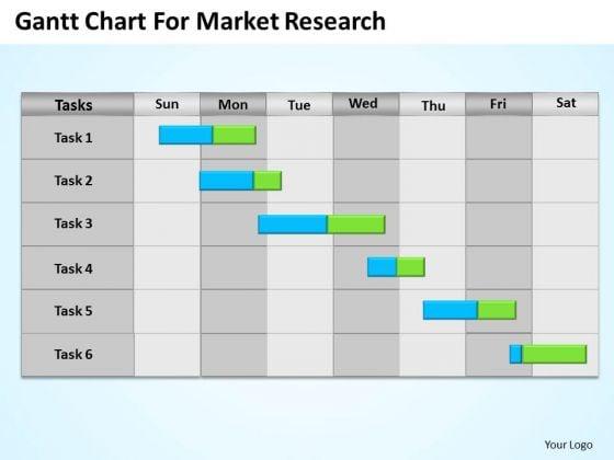 Business PowerPoint Template Gantt Chart For Market Research Ppt Slides