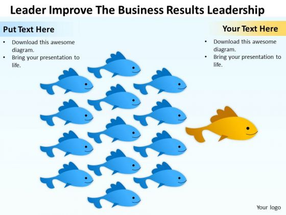 Business PowerPoint Template Leader Improve The Results Leadership Ppt Slides