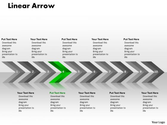 Business PowerPoint Template Linear Arrows 10 Stages Plan Image