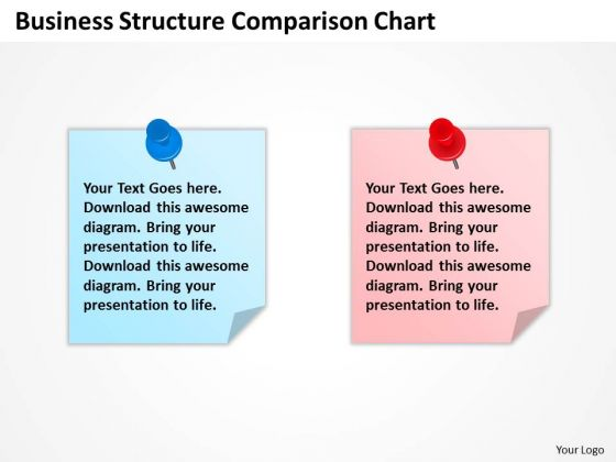 Business PowerPoint Template Structure Comparison Chart Ppt Slides