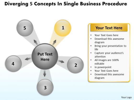Business PowerPoint Templates Free Download Procedure Target Chart