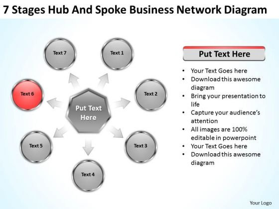 Business PowerPoint Templates Network Diagram Ppt Plan Outline