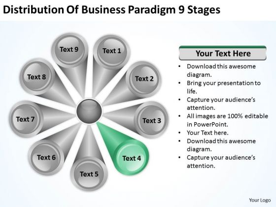 Business PowerPoint Templates Paradigm 9 Stages Plan Programs Slides