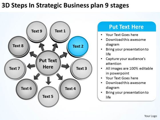 Business PowerPoint Templates Plan 9 Stages Relative Circular Arrow Chart Slides