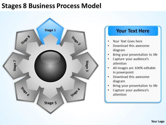 Business PowerPoint Templates Process Model Designing Plan