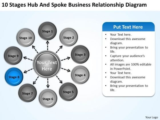 Business PowerPoint Templates Relationship Diagram Strategy