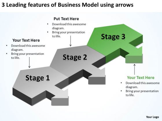 Business PowerPoint Theme Model Using Arrows Ppt Cost Plan Templates