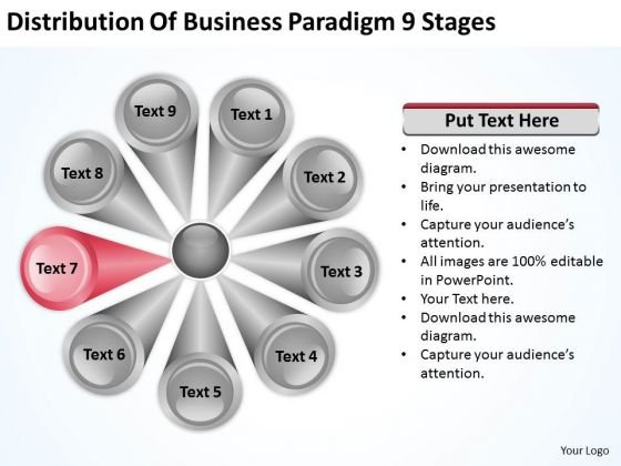 Business PowerPoint Theme Paradigm 9 Stages Plan Template Templates