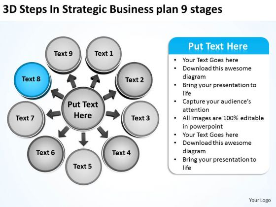 Business PowerPoint Theme Plan 9 Stages Ppt Circular Flow Process Templates