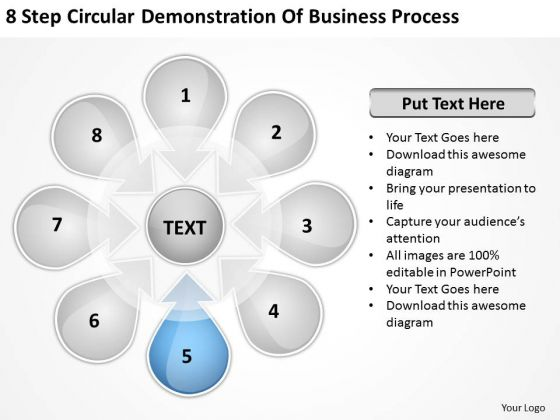 Business PowerPoint Theme Process Ppt 6 Plan Service Templates