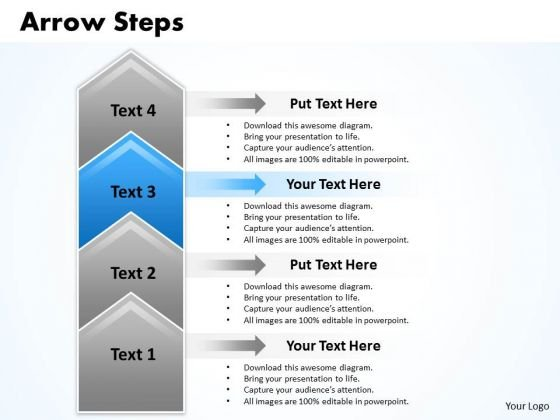 Business Ppt Arrow Create PowerPoint Macro 4 Stages Management Graphic