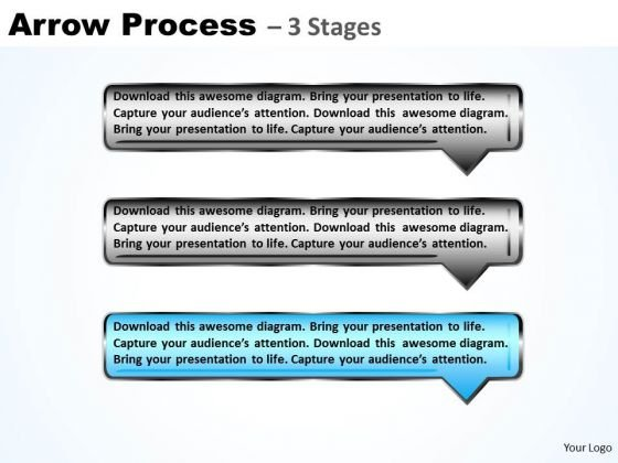 Business Ppt Template Arrow Process Using 3 Rectangles Management PowerPoint 4 Image