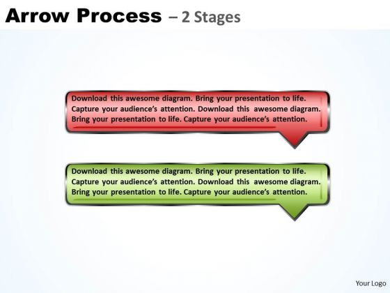 Business Ppt Template Linear Process Using 2 Bubble PowerPoint Graphics Arrows 1