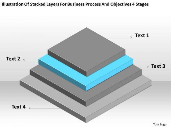 Business Process And Objectives 4 Stages Plan Outline Template PowerPoint Slides