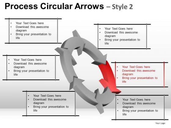 Business Process Circular Arrows PowerPoint Templates
