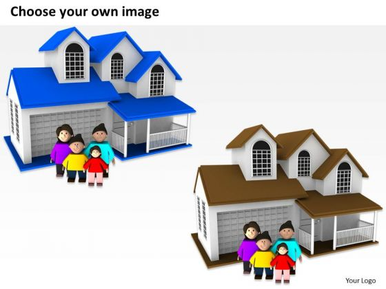 business_process_diagram_chart_3d_family_with_sweet_home_powerpoint_slides_2