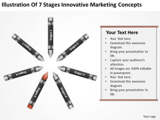 Business Process Diagram Chart Of 7 Stages Innovative Marketing Concepts PowerPoint Slides