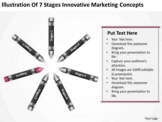 Business Process Diagram Chart Of 7 Stages Innovative Marketing Concepts Ppt 6 PowerPoint Slides