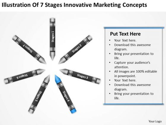 Business Process Diagram Chart Of 7 Stages Innovative Marketing Concepts Ppt PowerPoint Slide