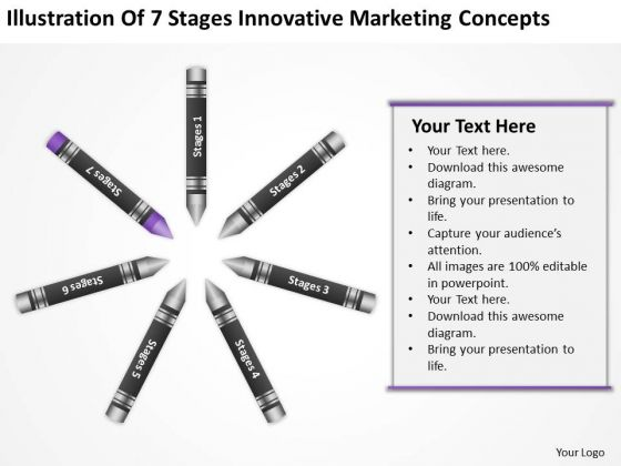 Business Process Diagram Chart Of 7 Stages Innovative Marketing Concepts Ppt PowerPoint Slides