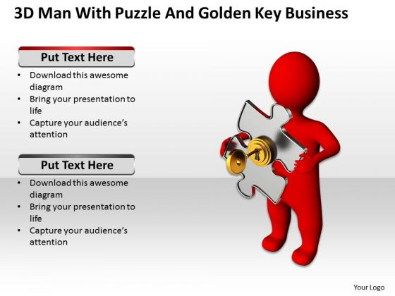 Business Process Diagram Example Golden Key PowerPoint Presentation Templates