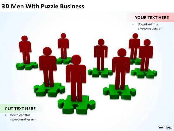 Business Process Diagram Example Puzzle PowerPoint Presentation Templates