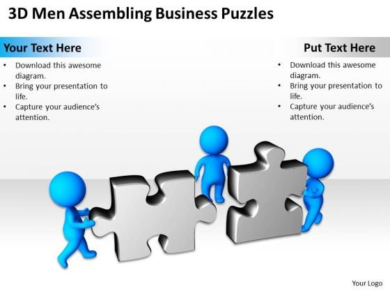 Business Process Diagram Examples PowerPoint Templates Puzzles Slides
