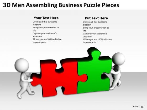 Business Process Diagram Examples Templates Puzzle Pieces PowerPoint Slides