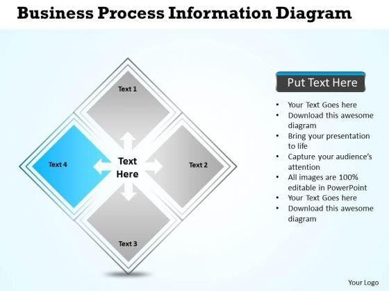 Business Process Diagram Vision Presentations Information PowerPoint Slides