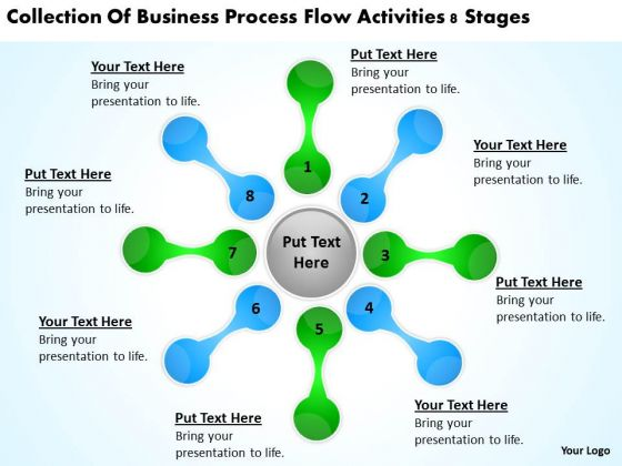 Business Process Flow Activities 8 Stages Non Profit Plan PowerPoint Slides