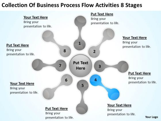 Business Process Flow Activities 8 Stages Plan Forms PowerPoint Slides