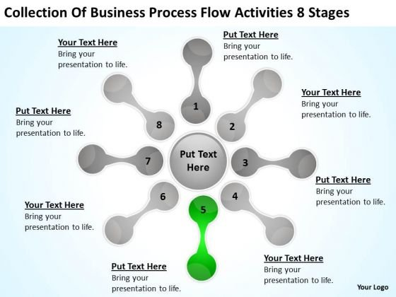 Business Process Flow Activities 8 Stages Ppt 6 Plan Small PowerPoint Templates