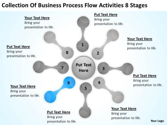 Business Process Flow Activities 8 Stages Ppt Template Plan PowerPoint Template