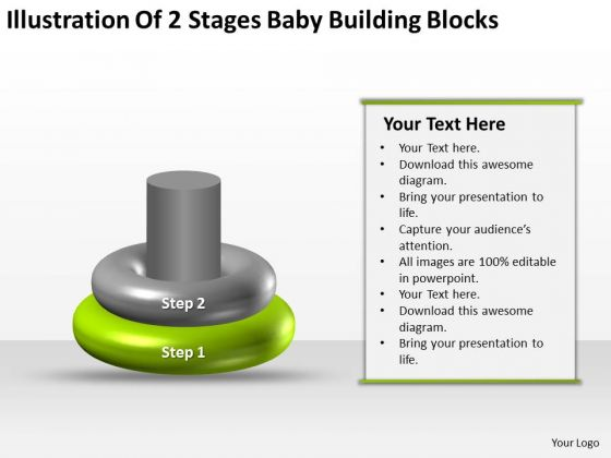 Business Process Flow Baby Building Blocks Ppt PowerPoint Templates Backgrounds For Slide