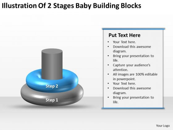 Business Process Flow Baby Building Blocks Ppt PowerPoint Templates Backgrounds For Slides